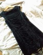 Piękna sukienka Elisabetta Franchi oryginał XS S czarna black