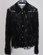 czarna koronkowa koszula