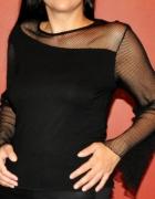 czarna gotycka bluzka z siateczką