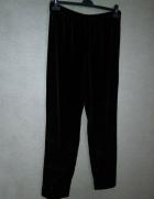 Spodnie dresowe welurowe czarne 42 44