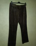 Spodnie dresowe welurowe brązowe 38 40