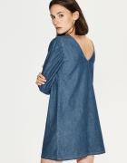 NOWA Jeansowa sukienka z wycietym dekoltem z tyłu