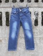 Spodnie 116 122 jeansowe 6 7 lat jak NOWE