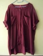 burgundowa rozpinana bluzka