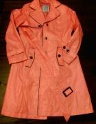 Simple łososiowy płaszcz trencz wiosna jesień...