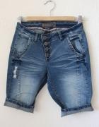spodnie jeansowe bermudy xs s...