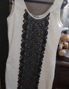 Nowa sukienka dopasowana z koronką