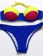 Idealny nowy granatowy strój kąpielowy S