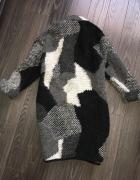 River Island długi modny kardigan płaszcz moro kubełkowy...