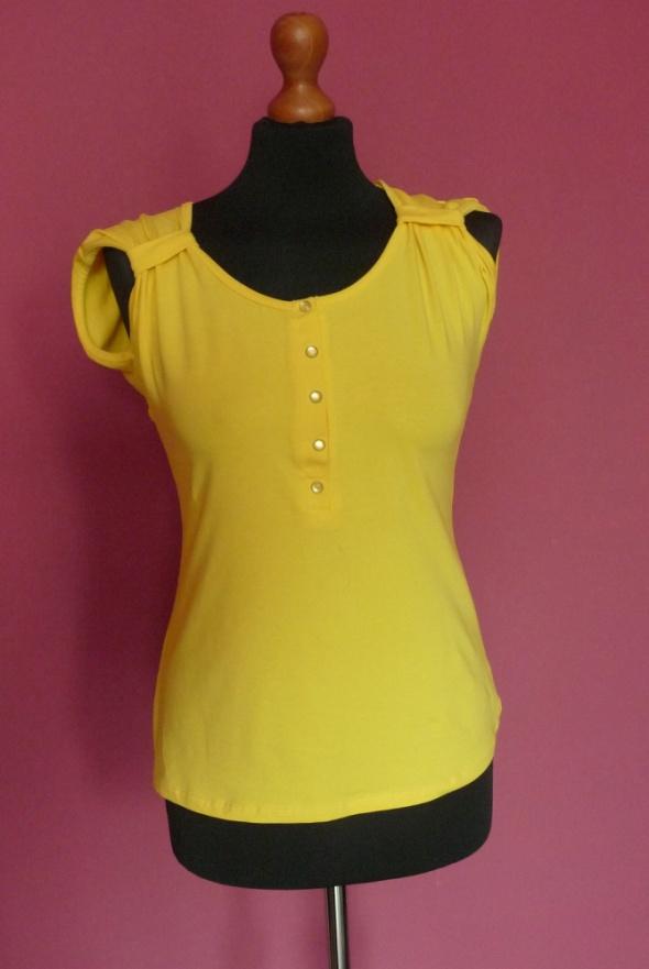 Żółta koszulka kokarda na plecach