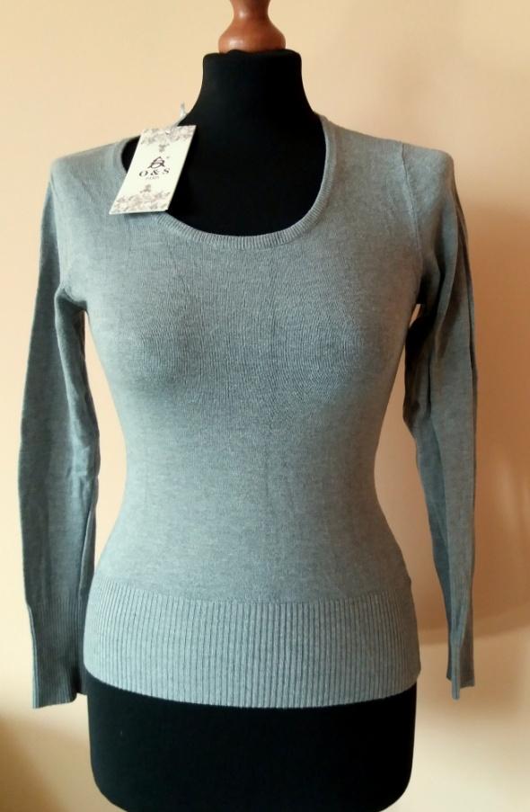 Nowy szary sweterek bluzka basic klasyczny