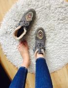 Buty skórzane Promod