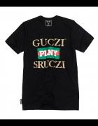 PLNY TEXTYLIA koszulka Guczi Sruczi Black