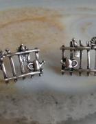 stare srebrne kolczyki płotki