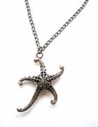wisiorek łańcuszek srebrna gwiazda rozgwiazda