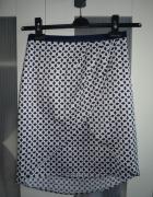 H&M Tulipanowa Spódnica we Wzorki Asymetryczna S