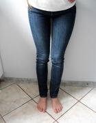 Jeansy dżinsy granatowe rurki XS