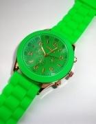 Zielony zegarek Geneva żywy jasny odcień zieleni