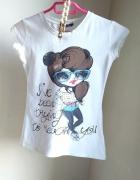 bluzka koszulka biała r S adidas lee H&M