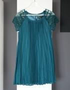 sukienka elegancka zwiewna luźna wesele weselna trapezowa worek...