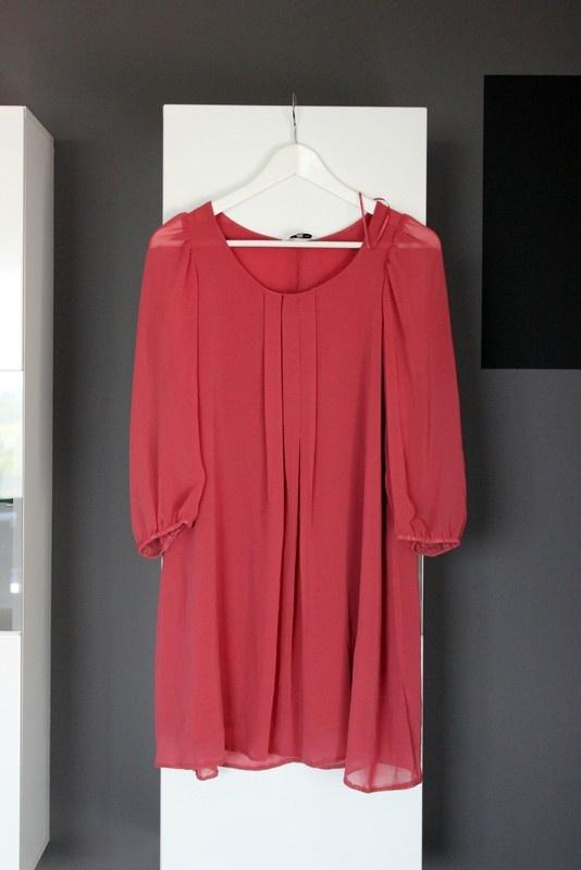 8b31701edf Suknie i sukienki sukienka elegancka zwiewna luźna wesele weselna trapezowa  worek oversize brudny róż