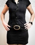 Czarna dżinsowa sukienka