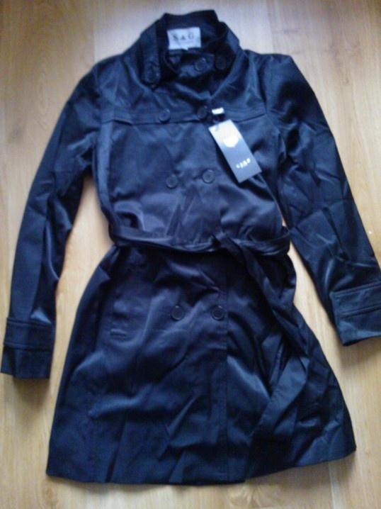 Trencz płaszcz nowy czarny