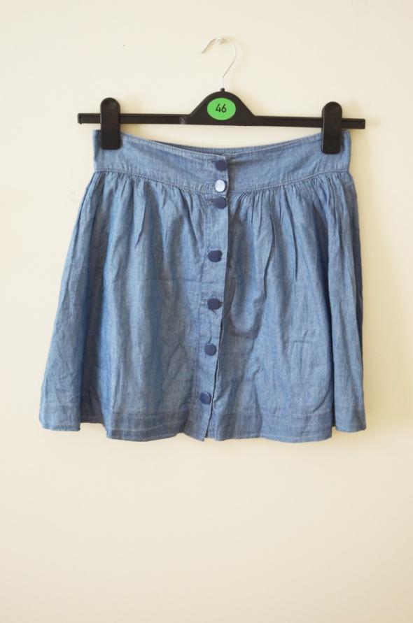 Niebieska bawełniana spódniczka mini M L