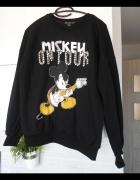 Bershka czarna nowa bluza dresowa mickey myszka miki...