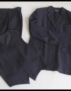 Garnitur marynarka spodnie kamizelka L XL 182