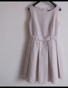 FIGL Sukienka rozkloszowana kontrafałdy S 36 jakość pierwsza