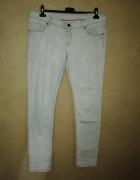 Jasnoszare elastyczne jeansy rurki skinny 44 46 C&A