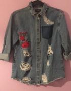 Koszula jeansowa z rózami