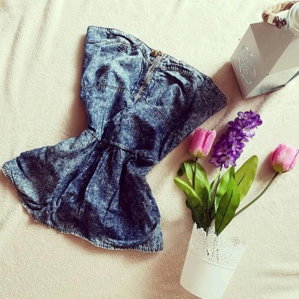Jeansowa złoty Zip