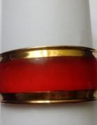 bransoletka w czerwona przezroczysta