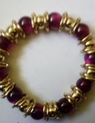 bransoletka złoto fioletowa