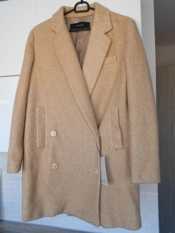 8459d434 Zara nowy płaszcz camel nude beżowy dwurzędowy guziki w Odzież ...