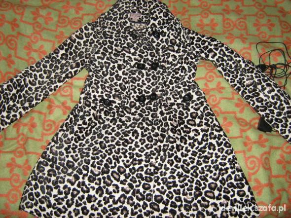 panterkowy płaszcz 38 40 H&M