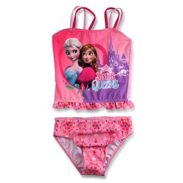 Strój kąpielowy 2 cz dla dziecka KRAINA LODU Frozen 128