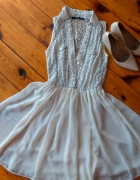 Koronkowa sukienka ecri...