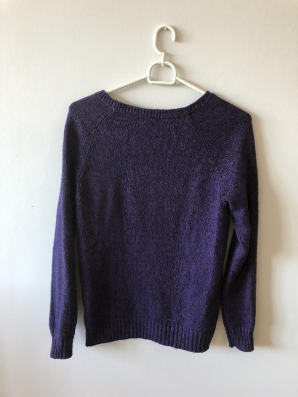 Fioletowy sweterek h&m S...