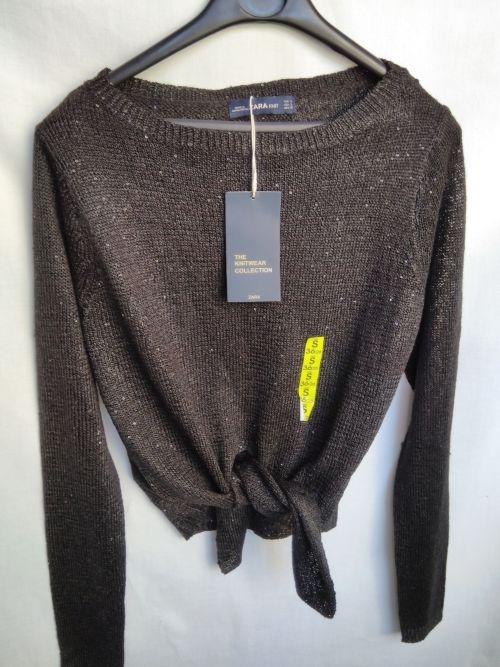 Sweter z cekinami Zara S...