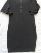 Massimo dutti elegancka sukienka z tyłu zip