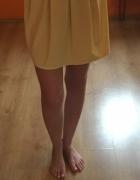 Żółta mini spódniczka...
