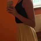 Żółta mini spódniczka