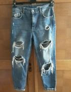 Boyfriend jeans dziury Zara