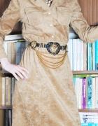 Sukienka camel velvet M