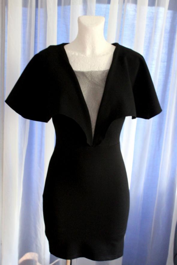 df82164ddf Suknie i sukienki Krótka czara sukienka mała czarna koktajlowa r XS