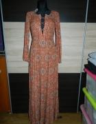 Glamorous długa sexy sukienka FOLK roz 36...
