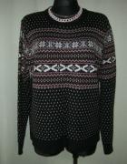 sweter w norweskie wzory XXL